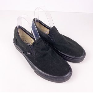 Vans Slip On All Black Canvas Classic Sneakers